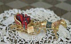 Estee Lauder Solid Perfume Compact Horse & Sleigh Sled