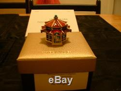 Estee Lauder Solid Perfume Compact Jay Strongwater Enchanting Pagoda 2 Boxes