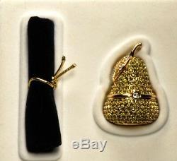 Estee Lauder Solid Perfume Compact Jeweled Pear Original Box
