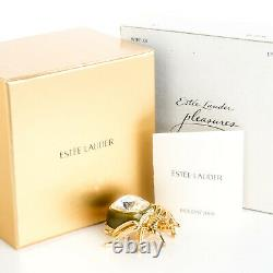 Estee Lauder Solid Perfume Compact Pleasure Jeweled Spider Both Boxes Holiday