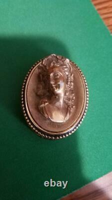 Estee Lauder Solid Perfume Compact Rare 1984 Raised Cameo Mint