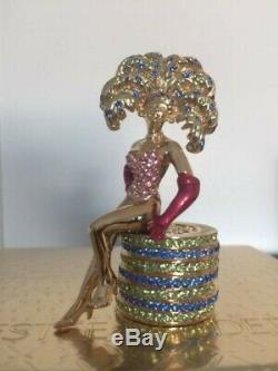 Estee Lauder Solid Perfume Compact Rare Las Vegas Showgirl, 2003, Mib