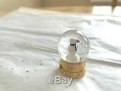 Estee Lauder Solid Perfume Compact Snowman Snow Globe Beyond Paradise 2005