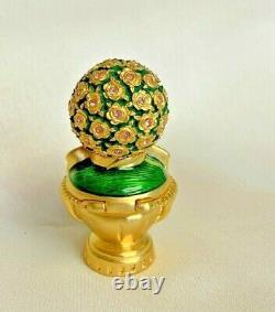 Estee Lauder Solid Perfume Compact Topiary 1998 No Box