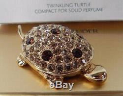 Estee Lauder Solid Perfume Compact Twinkling Turtle Original Perfume