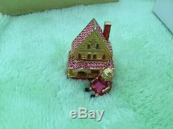 Estee Lauder Solid Perfume Compact Victorian Doll House NIB Jay Strongwater