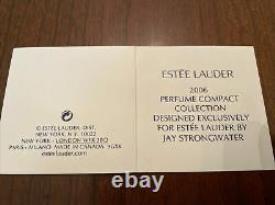 Estee Lauder Solid Perfume Compact White Linen Jay Strongwater Garden Rabbit NIB