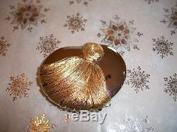Estee Lauder Solid Rare Perfume Compact Sculptured Tassel 1985 Mint Full