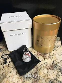 Estee Lauder Sparkling Snowman Beautiful Solid Compact BOX Rhinestone UNUSED