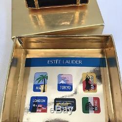 Estee Lauder Vintage 1950s Enamel Suitcase Powder Compact