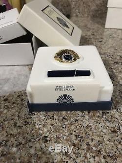 Estee Lauder White Linen 2003 25th Anniversary Solid Perfume Compact New Scallop