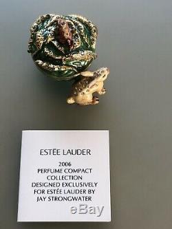 Estee Lauder White Linen Garden Rabbit Jay Strongwater Perfume Compact