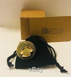 FULL/UNUSED 1996 Estee Lauder GREEN CRYSTAL PEAR Solid Perfume withLabel NICE
