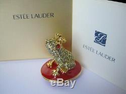 Full Estee Lauder Loving Frog Compact Pleasures Solid Perfume