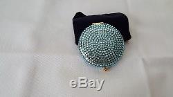 Highly Collectible Estee Lauder Blue Sky Crystal Powder Compact- Nib