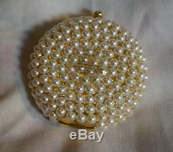 JG-094 Estee Lauder Wedding Day with Pearls Powder Compact used in Box Vintage
