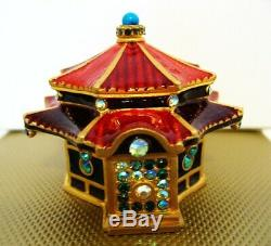 Jay Strongwater for Estee Lauder ENCHANTING PAGODA Solid Perfume Compact MIBB