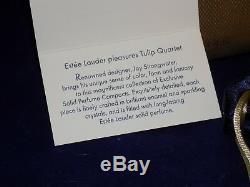 Jay Strongwater for Estee Lauder- Perfume Compact 2004- Tulip Quartet