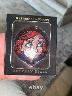 KATHRINE BAUMANN ESTEE LAUDER Little Mermaid Crystal Ariel Disney POWDER COMPACT