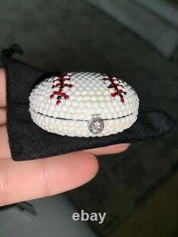 KATHRINE BAUMANN ESTEE LAUDER Swarovski Crystal Baseball POWDER COMPACT