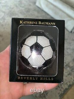KATHRINE BAUMANN ESTEE LAUDER Swarovski Crystal Soccer Ball POWDER COMPACT