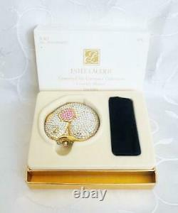 Ltd Edition Estee Lauder Country Mouse Chic Swarowski Crystals Powder Compact