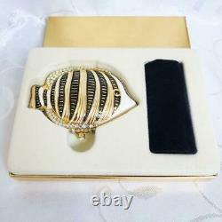 Ltd Edition Estee Lauder Sea Stars Zebra Fish Swarowski Crystals Powder Compact