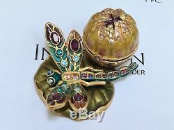 NIBB ESTEE LAUDER JAY STRONGWATER DRAGONFLY SOLID PERFUME COMPACT in Orig. BOX