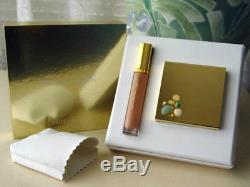 NIB Collectible Estee Lauder Tuberose Gardenia Jewel Powder Compact LipGloss Set