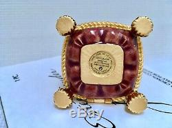 NIB ESTEE LAUDER JAY STRONGWATER CROWN SOLID PERFUME COMPACT in Orig. BOXES