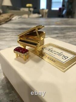 NIB FULL 1999 Estee Lauder DAZZLING GOLD GRAND PIANO Solid Perfume Compact