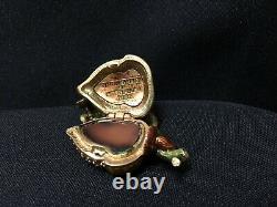 NIB Jay Strongwater Estee Lauder Pleasures Glistening Acorn Perfume Compact FS