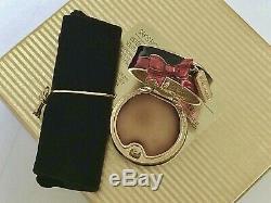 Nib Estee Lauder Saks Fifth Avenue Hat Box Solid Perfume Compact Rare Vtg
