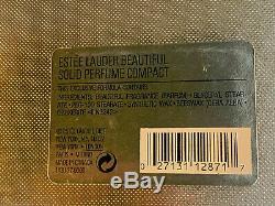 Nib Estee Lauder Solid Perfume Compact Jeweled Pear Crystal Beautiful Perfume