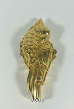 PROTOTYPE 1991 Estee Lauder GOLDEN PARROT Solid Perfume Compact