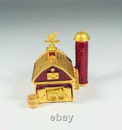 PROTOTYPE 2003 Estee Lauder PLEASURES LITTLE RED BARN Solid Perfume Compact