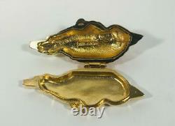PROTOTYPE/ VARIATION 1991 Estee Lauder GOLDEN PARROT Solid Perfume Compact