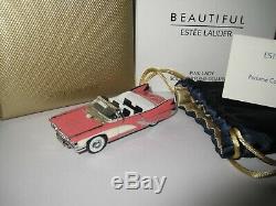 Pink Lady Cadillac Estee Lauder Full Beautiful Solid Perfume Car Compact
