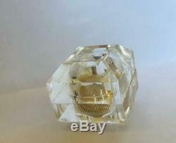 RARE1974 Estee Lauder ESTEE' ICE CRYSTAL Solid Perfume Compact