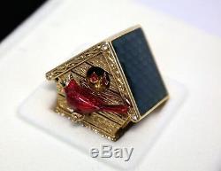 RARE Estee Lauder Beautiful Birdhouse 2001 Perfume Compact Collectible