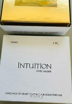 RARE-NIB FULL/UNUSED 2001 Estee Lauder INTUITION LANGUAGE OF HEART Solid Perfu