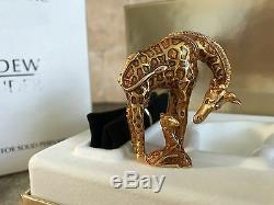 Rare Estee Lauder 2002 Gilded Giraffe Solid Perfume Compact Mib Youth Dew