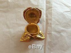 Rare Estee Lauder Solid Perfume Compact Sparkling Red Rose Empty