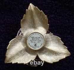 THREE ESTEE LAUDER WHITE, RED, PURPLE ROSE Solid Perfume Compacts