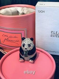 Very Rare Estee Lauder Pleasures Panda Perfume Compact
