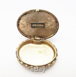 Vintage Estee Lauder Collectible Keepsake Solid Perfume Cameo Gold Compact Box