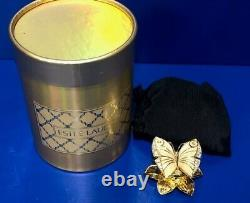 Vintage Estee Lauder Enchanted Butterfly Solid Perfume Compact w Box Beautiful