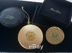 1965 Estee Lauder 1er Monogramme Régent Solide Parfum & Poudre Compact Vtg Rare