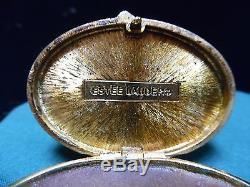 1982 Contented Cat Estee Lauder Parfum Solide Compact
