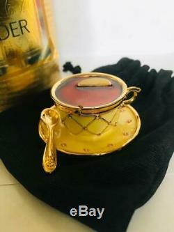 1998 Estée Lauder Tea Cup Parfum Solide Compact Original Box